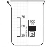 Стакан низкий с градуировкой - 25мл, ТС